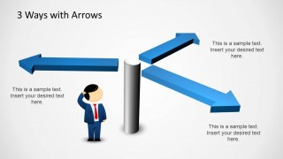 3 way powerpoint diagram with arrows - slidemodel, Presentation templates
