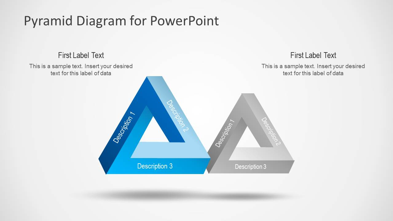 Pyramid Diagram Design For Powerpoint