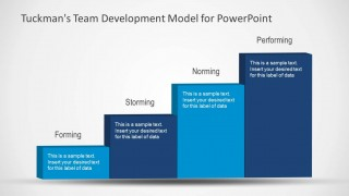 Team Development Model Slide Design with 4 Stairs for PowerPoint