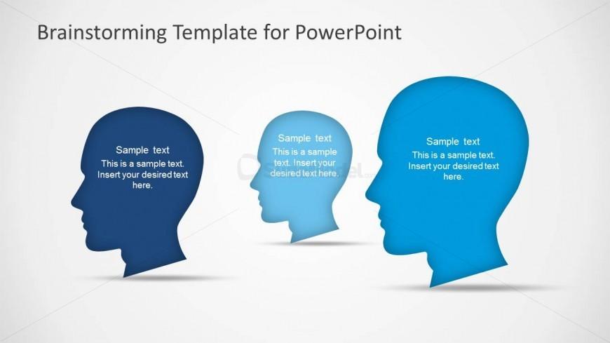 PowerPoint Scene of Three Head Silhouettes
