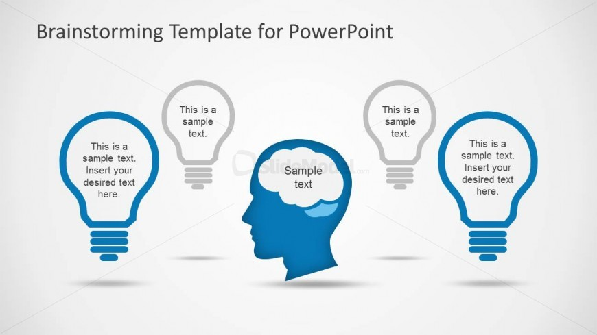 PowerPoint Flat Design Brainstorming Clipart