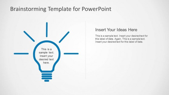 Flat Design Light Bulb PowerPoint Shapes