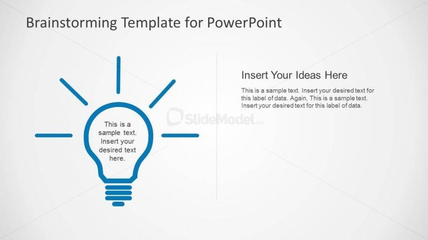 PowerPoint Flat Light Bulb Shapes