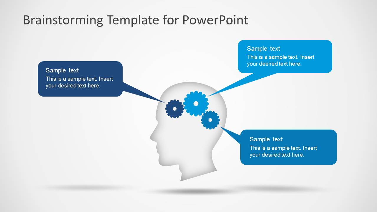 Brainstorming powerpoint template slidemodel powerpoint shapes featuring brainstorming ideas ccuart Choice Image