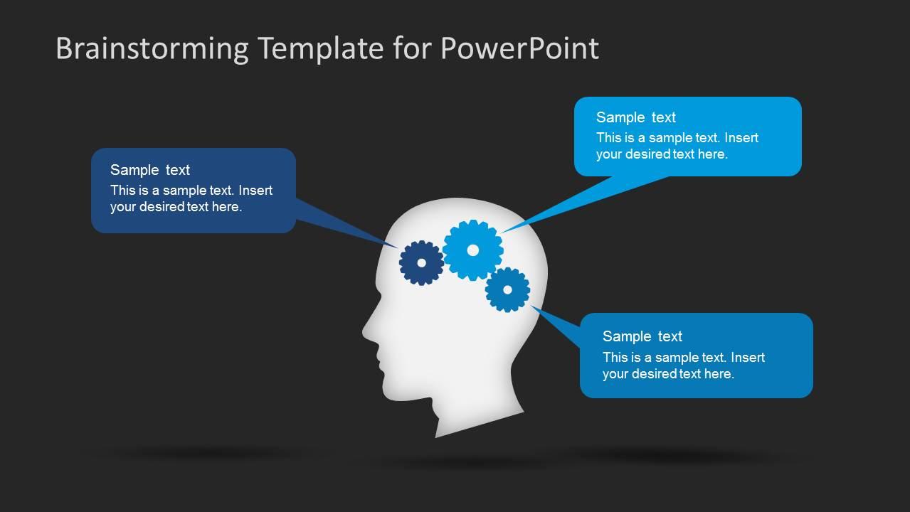 dark brainstorming powerpoint template