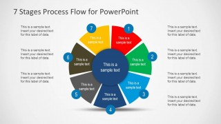 7 Stages Cycle Process Flow Diagram for PowerPoint