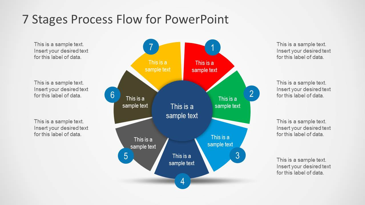 7 Stages Cycle Process Flow Diagram for PowerPoint ...