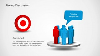 group discussions & team goals template for powerpoint - slidemodel, Group Presentation Template, Presentation templates