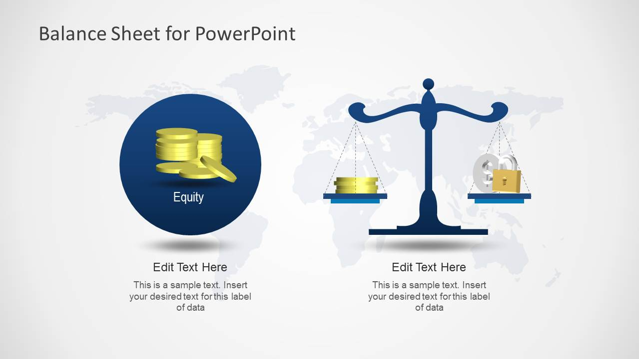 simple balance sheet powerpoint template slidemodel