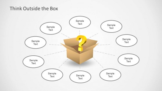 Think Outside the Box Diagram for PowerPoint