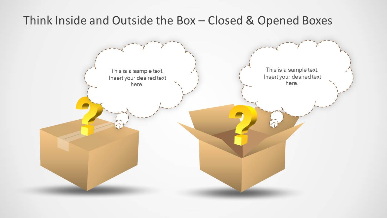 Think Inside & Outside the Box Template for PowerPoint ...