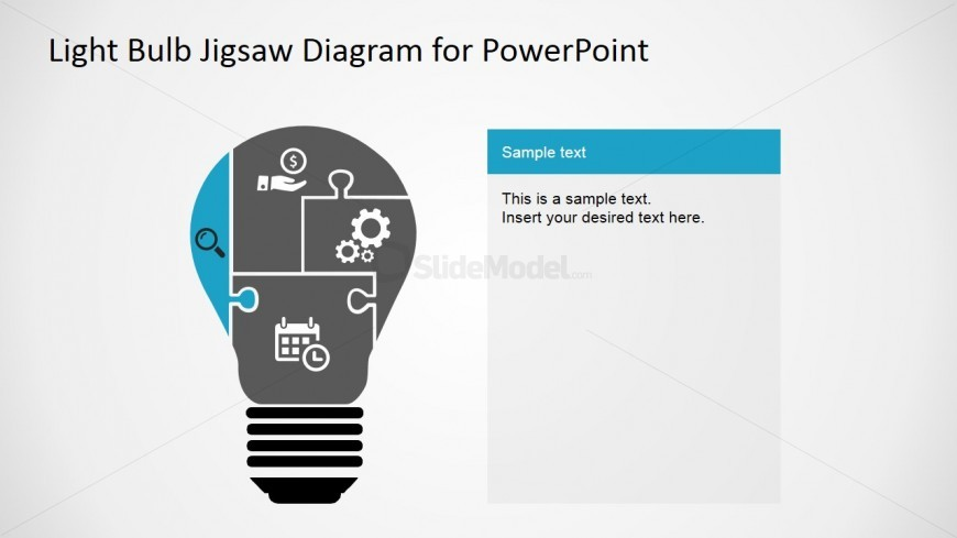 jigsaw puzzle pieces light bulb diagram for powerpoint slidemodel rh slidemodel com PowerPoint Eye Contact PowerPoint Charts and Diagrams