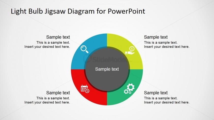 PowerPoint Diagram Concentric Circles Quadrants