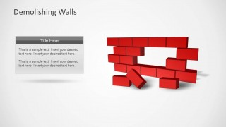 Broken Brick Wall Template for PowerPoint with Text Box