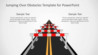 Jumping Obstacles over the Road PowerPoint Template
