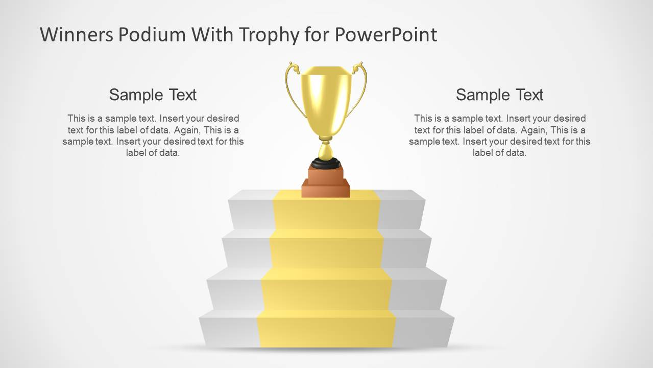 business podium & trophies template for powerpoint - slidemodel, Presentation templates