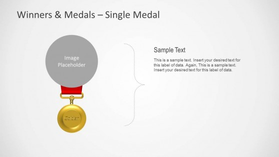 Golden Medal Shape for PowerPoint