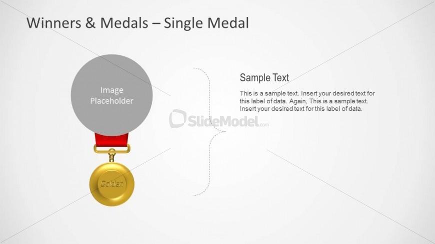 Golden Medal Shape for PowerPoint