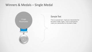 Silver Medal Shape for PowerPoint
