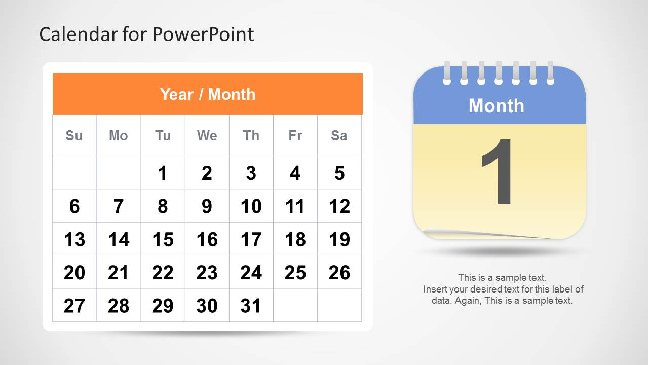 Marvelous Calendar Template For PowerPoint   Month ...