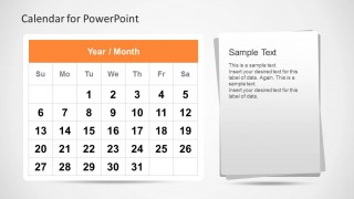 calendar template for powerpoint - slidemodel, Modern powerpoint