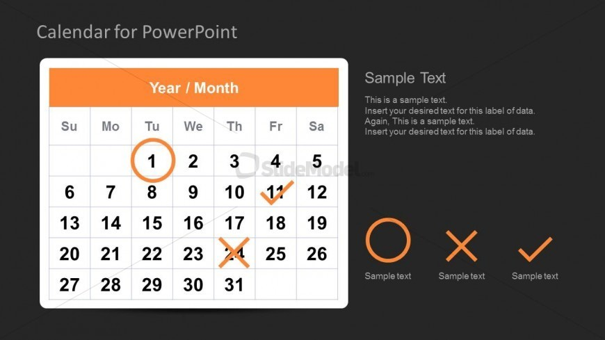 Calendar Template For Powerpoint Task Management  Slidemodel