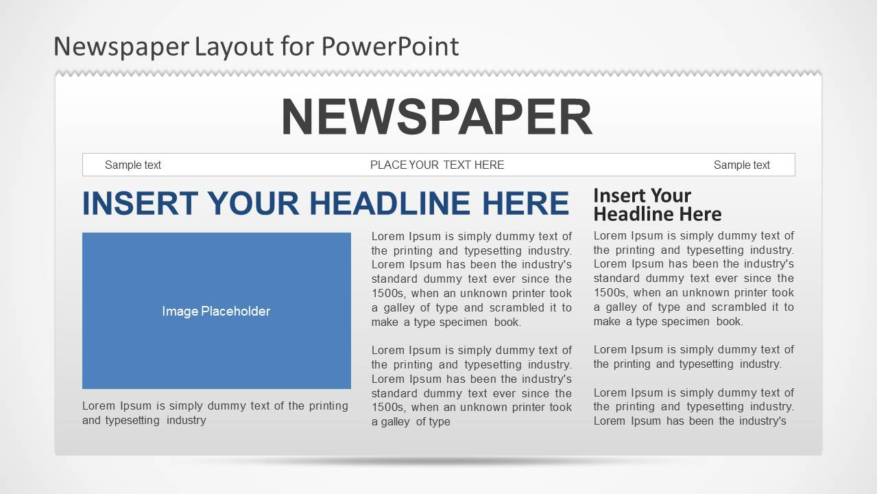 newspaper powerpoint template slidemodel. Black Bedroom Furniture Sets. Home Design Ideas