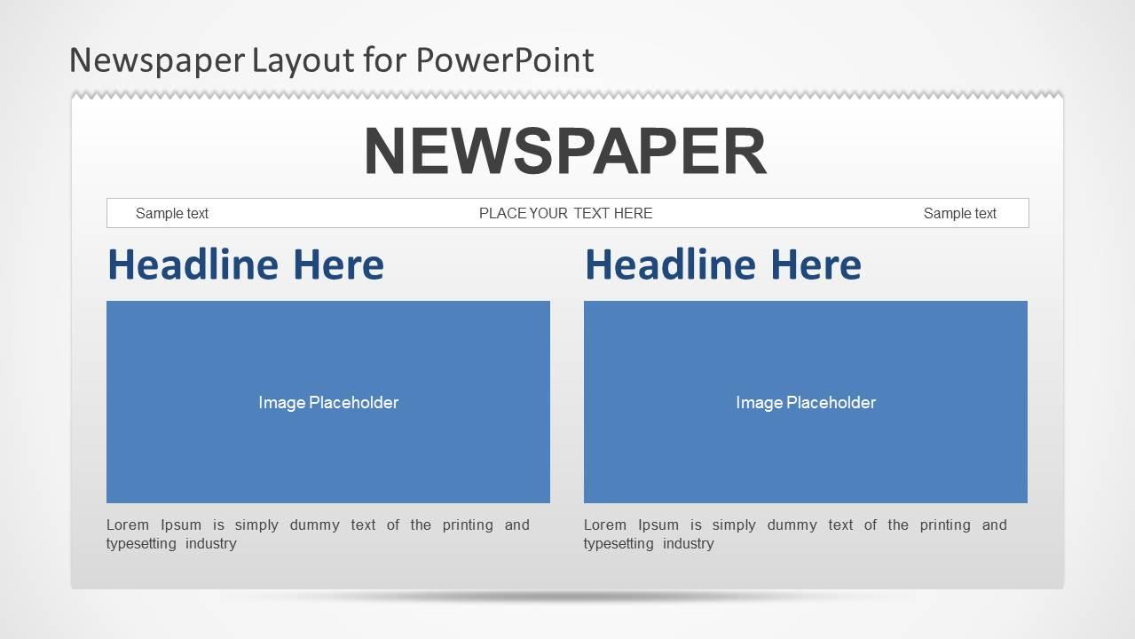 newspaper powerpoint template slidemodel