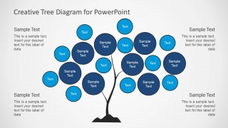 Tree Chart Diagram Design for PowerPoint