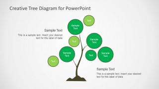 Simple Tree Chart Diagram Design for PowerPoint