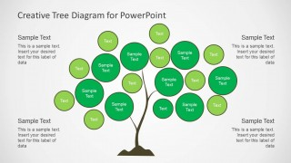 Creative Tree Chart Diagram Slide Design for PowerPoint