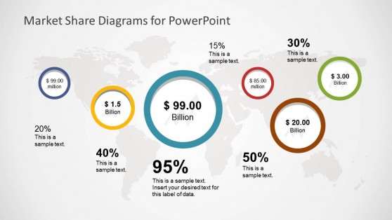 Bubble chart powerpoint templates global market share powerpoint template ccuart Choice Image
