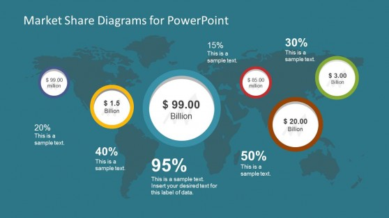 Bubble chart powerpoint templates business market share diagram for powerpoint ccuart Choice Image