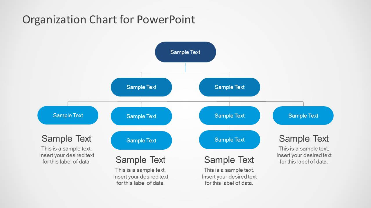 Simple Organizational Chart Template for PowerPoint - SlideModel