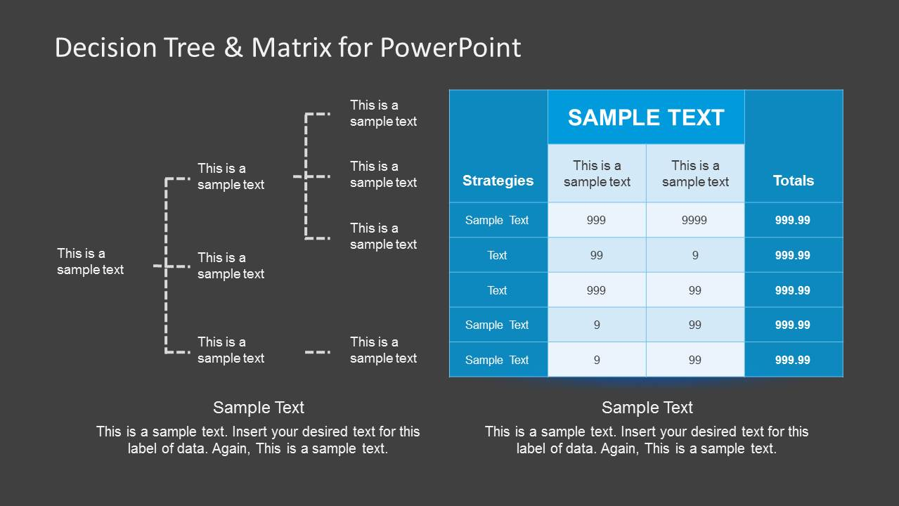 Decision Tree & Matrix Template for PowerPoint - SlideModel