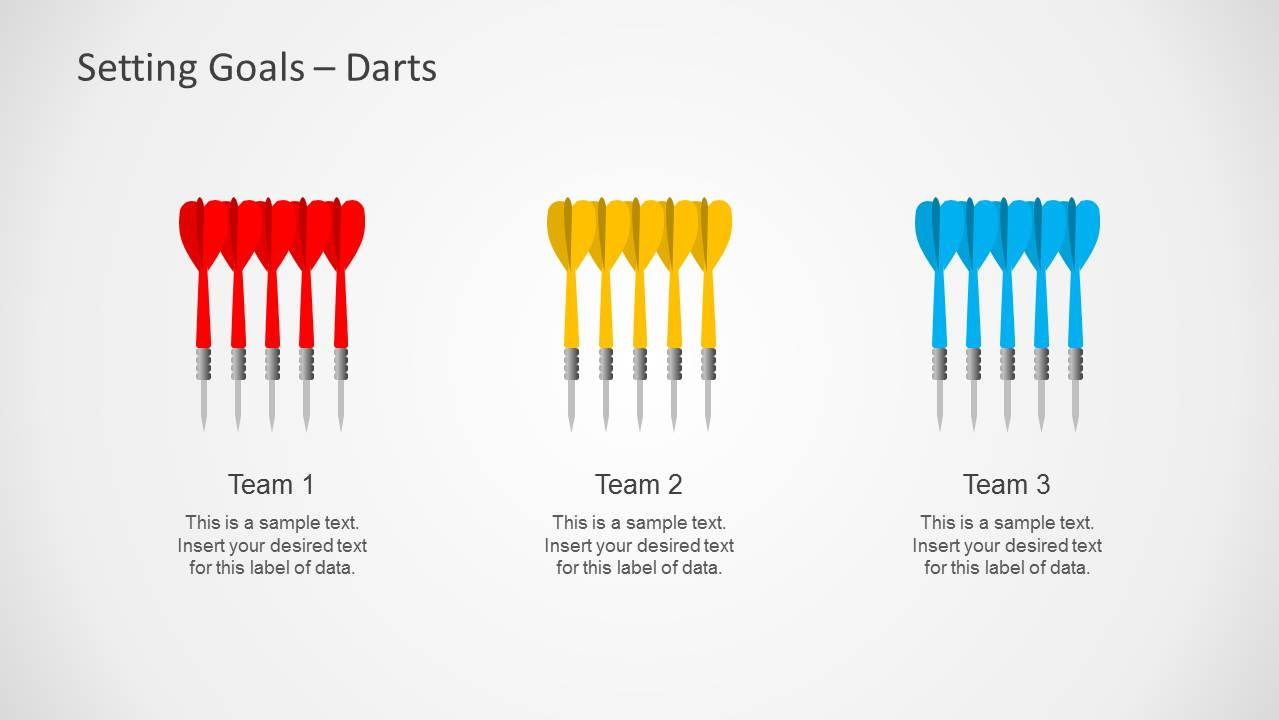 Setting Goals Template for PowerPoint with Target & Darts - SlideModel