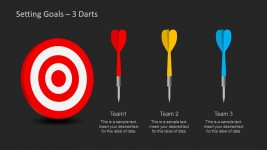 Dart Shapes for Goal Setting in PowerPoint Slide