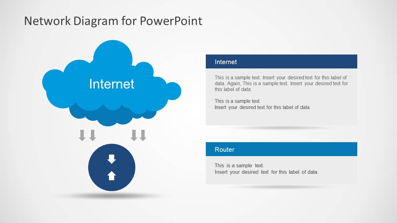 Network Diagram Template For Powerpoint Slidemodel Tool Free Download Wiring Schematic With Cloud And Arrows