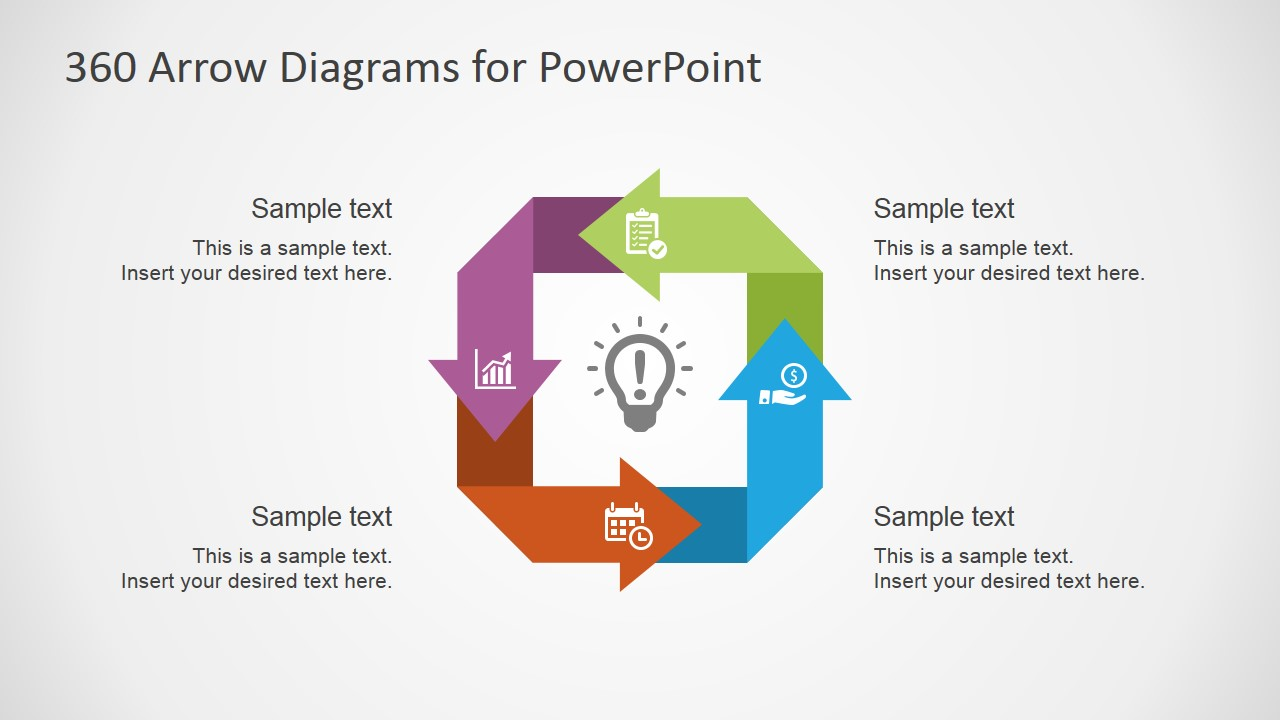 360    Arrows    PowerPoint    Diagrams     SlideModel
