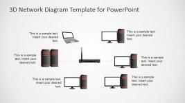 Start Network Diagram PowerPoint Template
