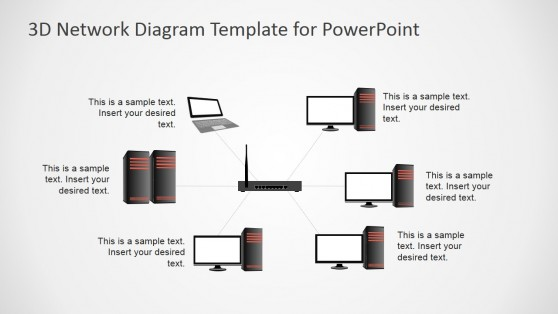 Start Network Diagram PowerPoint Template