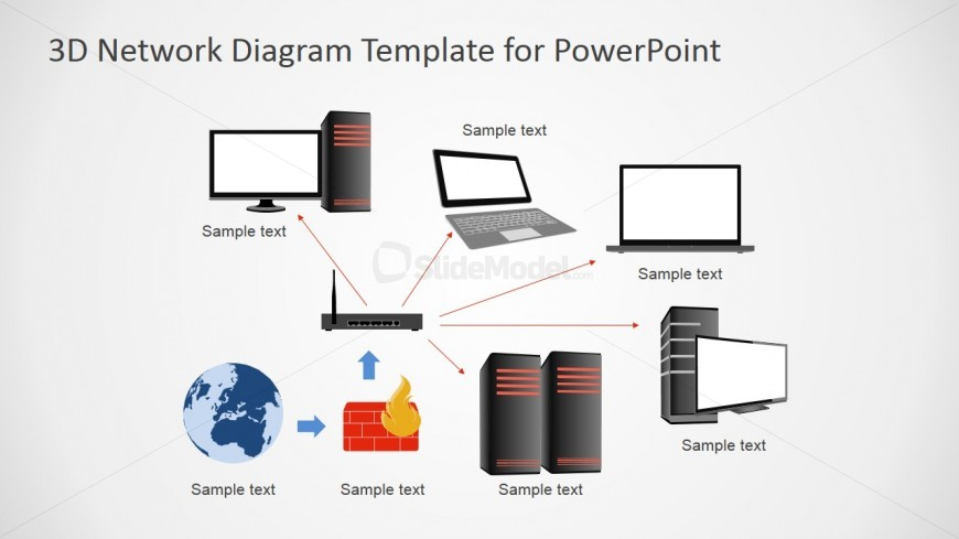 PowerPoint Shapes Featuring Network Diagrams