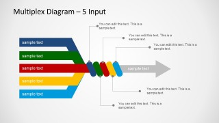 5 Input & 1 Output Diagram for PowerPoint