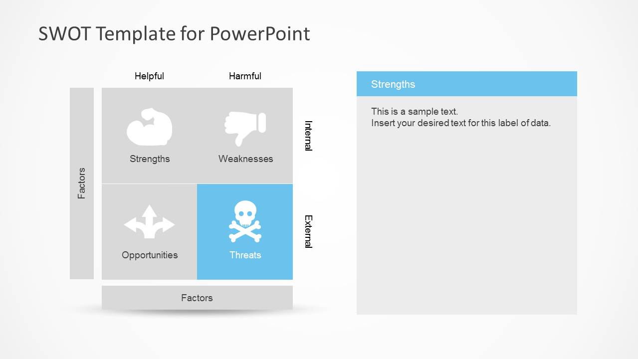 Simple swot powerpoint template slidemodel for What is a template in powerpoint
