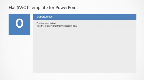 SWOT Analysis Flat Design Opportunities Slide