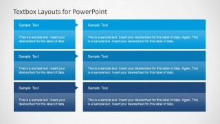 3x2 Textbox Layout for PowerPoint