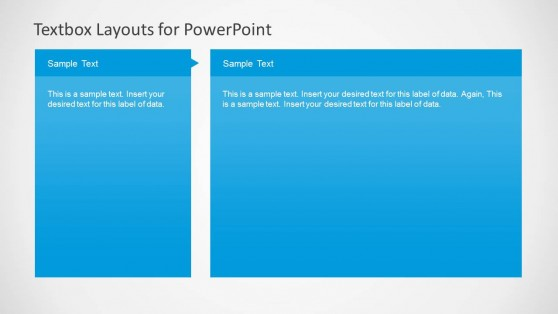 2 Column Text Boxes Slide Design for PowerPoint