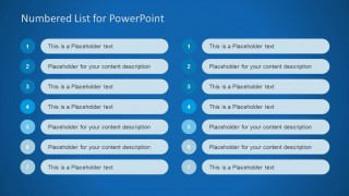 numbered list template for powerpoint slidemodel