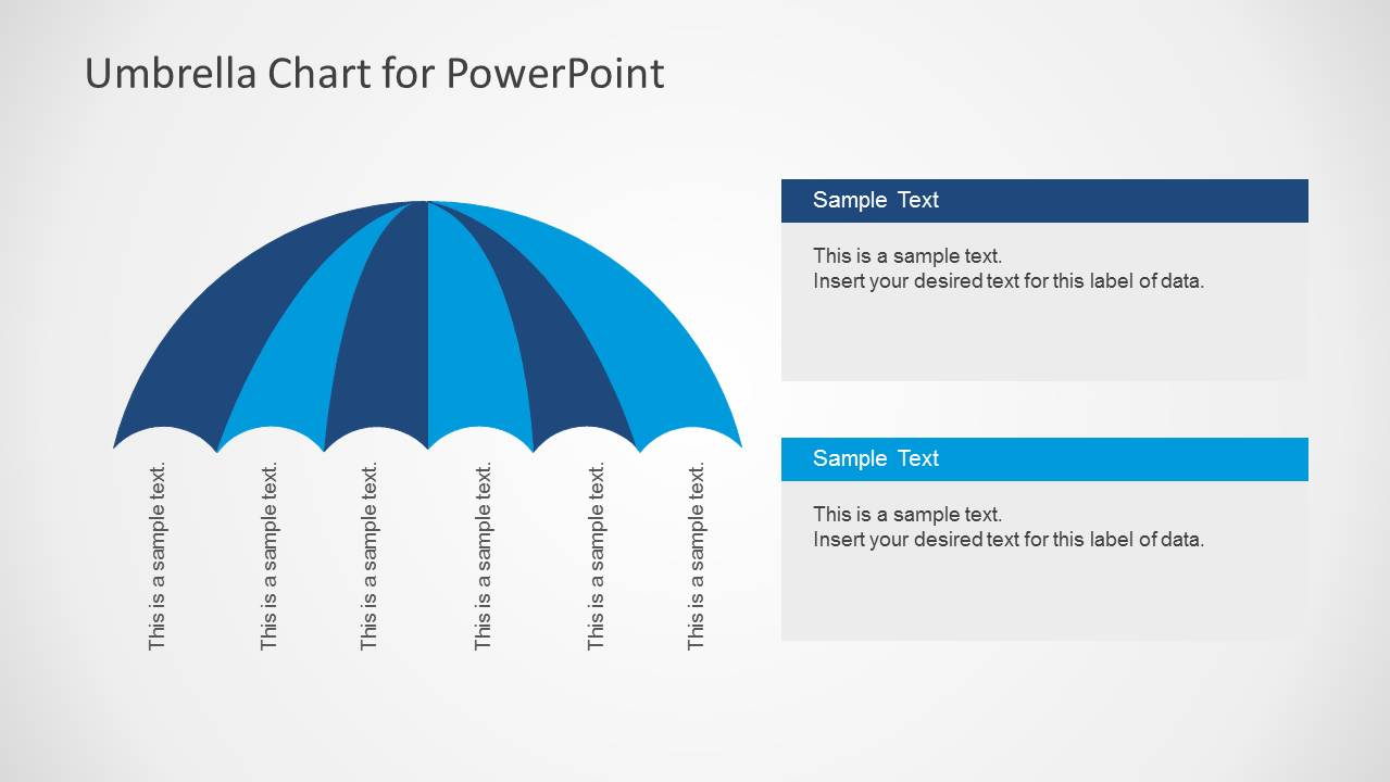 umbrella chart diagram for powerpoint