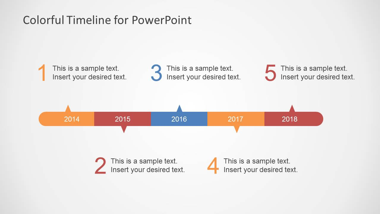 Colorful Timeline Template For PowerPoint SlideModel - Template of a timeline